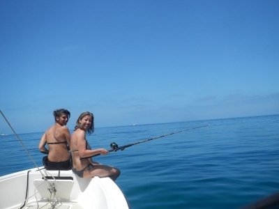 Fishing from the Tender